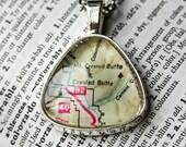 Map Jewelry, Crested Butte Colorado , Colorado Necklace , Map Necklace , Map Pendant , I Love Crested Butte , Ski Gift , Colorado Vacation