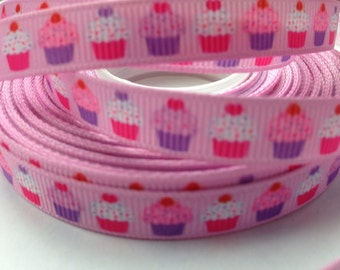 Cupcake Grosgrain Ribbon - 2 yards