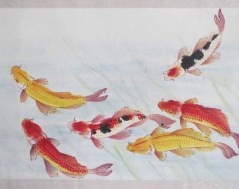 Original Chinese painting-Fish(Variegated Carp)