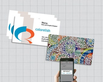 Personalized QR code business card design - QR code vCard - Graphic Design Services