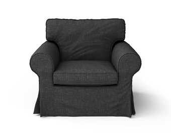 IKEA Ektorp Armchair SLIPCOVER ONLY in Nomad Black fabric