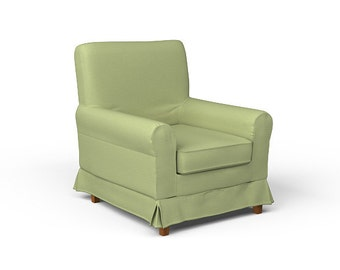 IKEA Ektorp Jennylund Armchair SLIPCOVER ONLY in Kino Green fabric
