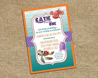 Finding Nemo Girl Birthday Invitation