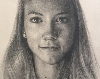 Custom Portrait From Photo, Pencil Drawing