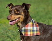 New Colors! Dog bandana with collar set. Removable detachable bandana and collar set. pet bandana, dog and cat bandana collar