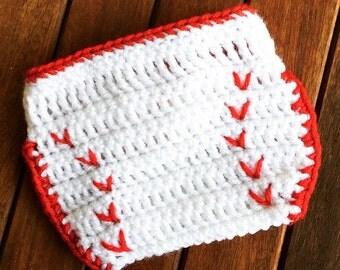 Newborn baby baseball diaper cover