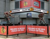 Bobby Hull Stan Mikita Statues Chicago Blackhawks Stanley Cup Final