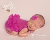 Newborn mohair Ruffle Romper.  Newborn photo prop