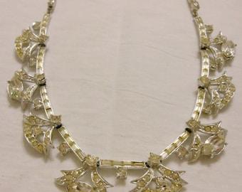 Deco clear rhinestone necklace