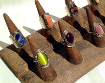 12 Cones Ring Display ~ Wood Ring Display ~ Ring Display ~ Ring Holder ~ Ring Organizer ~