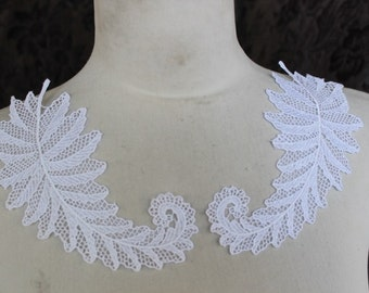 Cute  venice applique  2  piece listing white color