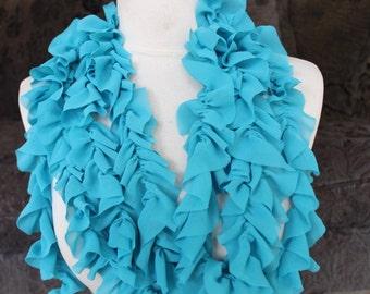 Cute  ruffled  chiffon  trim  blue   color  2 yards listing