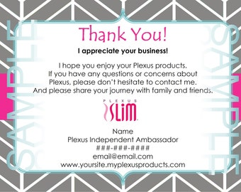 Compliance Approved Plexus Thank You Cards: 2 options - DIGITAL FILE
