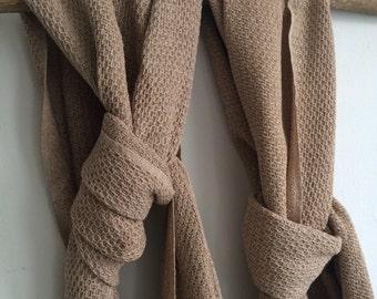 OAK - handwoven scarve in organic colorgrown cotton - Sally Fox