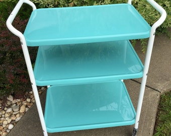 Vintage Cosco Rolling Kitchen Cart