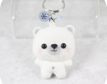 Polar Bear Felt Plush Keychain/Ornament