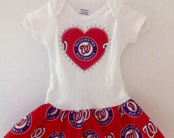 Washington Nationals  Inspired Dress