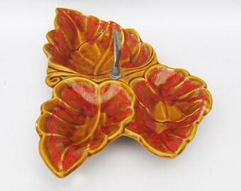 Mid-Century Santa Anita Ware Grapeleaf Ceramic Serving Bowl - Pattern R-27