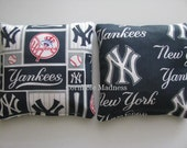 New York YANKEES MLB Cornhole Bags Corn hole Corn Toss Baggo Set of 8