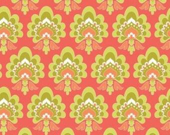 Riley Blake Designs Lula Magnolia Floral Orange  - 1 yard
