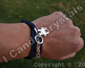 Autism Awareness Bracelet Silver Puzzle Piece Custom Stamped