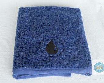Blue Mana from Magic the Gathering Inspired Bath Towel