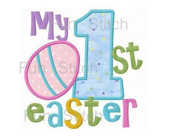 My first Easter applique easter egg machine embroidery design