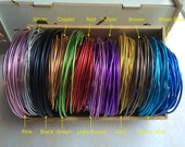 10 gauge (2.5mm) Aluminum Wire - 12 colors for choice