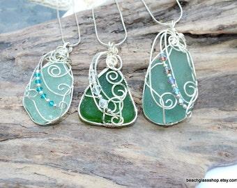 Sea Glass Necklace - Beach Glass Jewelry - Lake Erie Jewelry