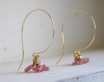 Inkarose hoop earrings  in gold