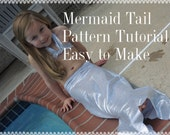 Mermaid Tail Pattern and Tutorial, pdf, Instant Download, Dress Up Play
