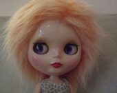 SALE Orange frosted faux fur wig hair for Blythe