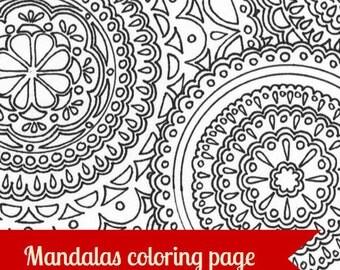 Mandala Printable Printable Adult Coloring Page