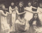 Sacred Grove. Rare RPPC of Belle Epoque Dancers by Joseph Marie Vallard, circa 1910