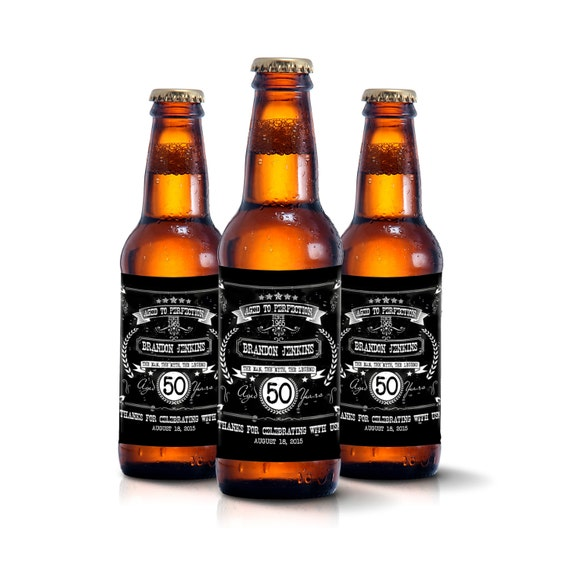 Custom beer bottle labels personalized men by liquidcourage for Beer bottle label size