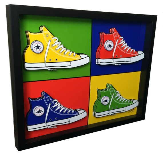 converse chuck taylor sneakers basketball shoes 3d pop art. Black Bedroom Furniture Sets. Home Design Ideas