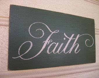 Antiqued FAITH Sign Wall Decor Plaque