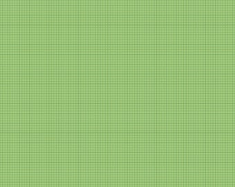 Modern Minis Graph Paper Green by Lori Holt of Bee in My Bonnet for Riley Blake, 1/2 yard