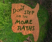 Don't Step on the Mome Raths Wall Mount Sign Alice in Wonderland