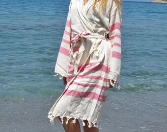 Hooded Bathrobe Turkish Bathrobe Bamboo Bath Beach Robe Organic Bathrobe Bridesmaid Robe For Her Him Kimono Men Women Robe Hospital Gown