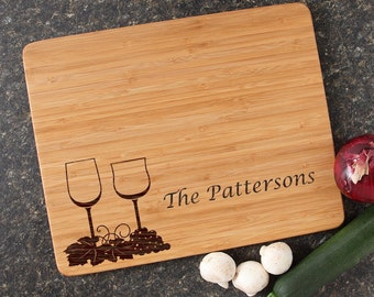 Personalized Wedding Gift, Personalized Cutting Board, Engraved Cutting Boards, Bamboo Cutting Boards, Custom, Housewarming Gifts-15 x 12 D5