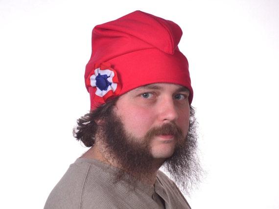 Liberty rouge chapeau coton bonnet phrygien avec une cocarde rouge de blanc et bleu chapeau unisexe