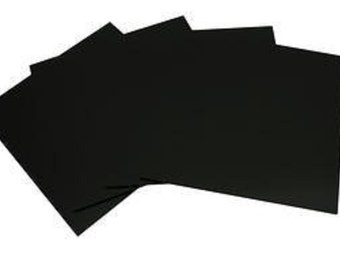 System 90 6 inch Black Fusible Glass Squares - 4 Pack