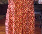 Retro Dress/Vintage Dress/Floral Rayon Dress/L-1X Dress/Shabbyfab Clothing