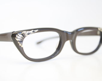 Small Unused Vintage Cat Eye Glasses Authentic 1956's Frames
