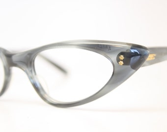Gray cat eye glasses fade vintage eyeglass frames