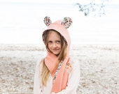 Animal Hooded Scarf + Tails - PDF PATTERN -  Sizes Infant to Adult