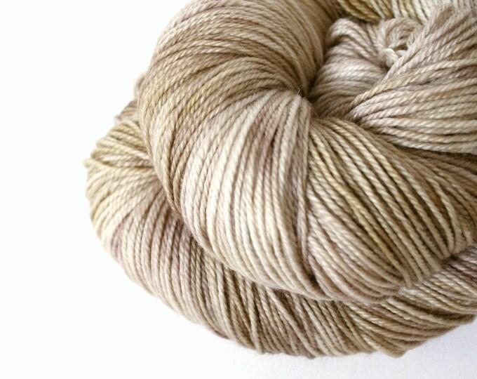 Hand Dyed yarn cashmere rich- MCN Raw Sugar, beige, caramel, wheat neutral