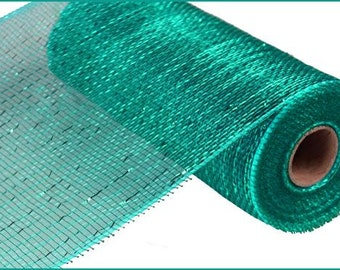 10 Inch Teal Poly Mesh RE130160, Deco Mesh Supplies