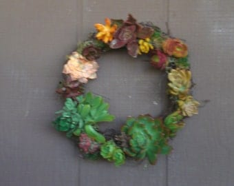Grapevine Wreath...Simple Living Beauty...Spanish Moss and Grapevine Garland Living Wreath